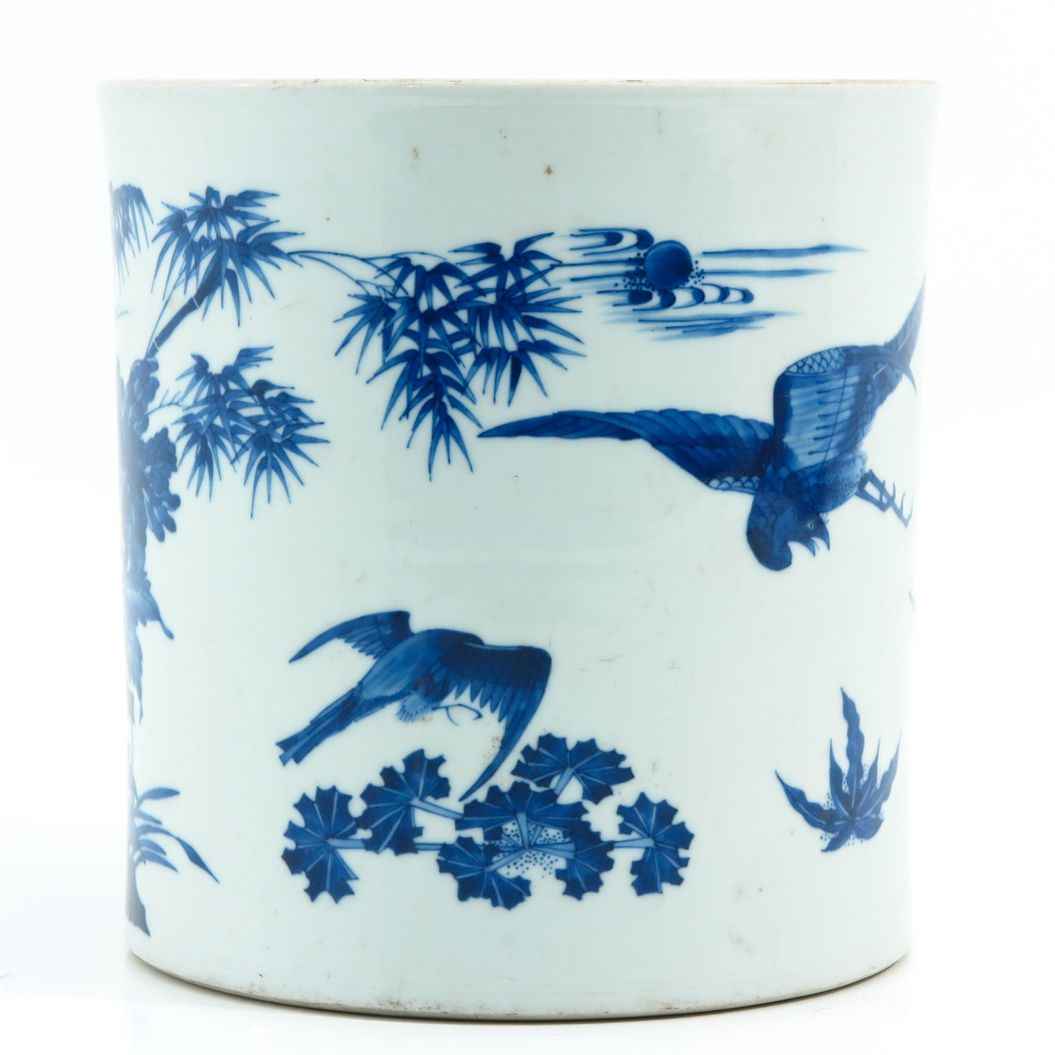 A Blue and White Brush Pot - Image 3 of 9