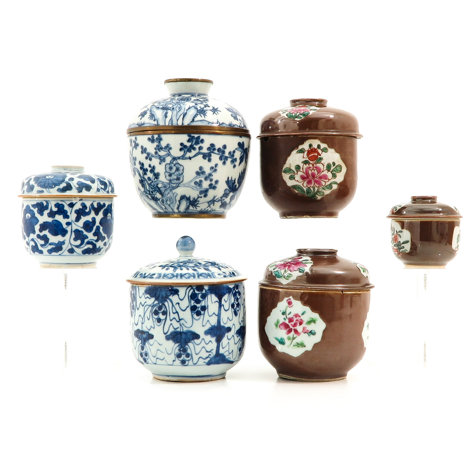A Collection of Jars with Covers - Image 4 of 10