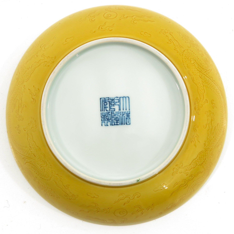 A Yellow Glaze Dish - Image 2 of 6