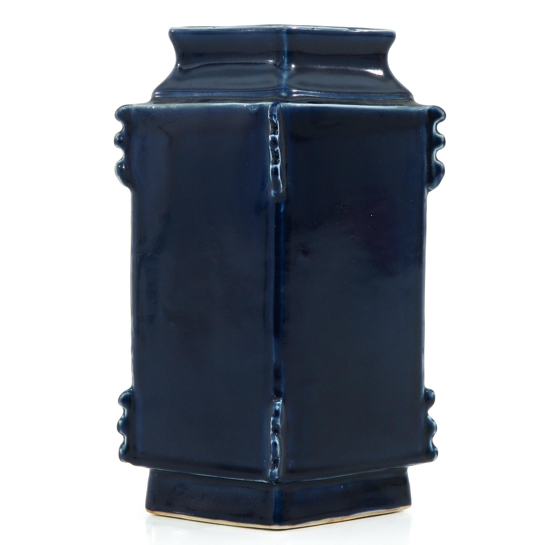 A Blue Glaze Vase - Image 3 of 10