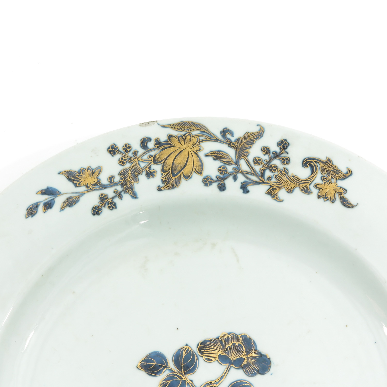 A Blue and Gilt Decor Charger - Image 3 of 6
