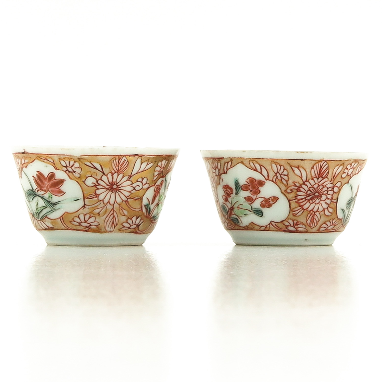 A Set of 2 Cups and Saucers - Image 3 of 10