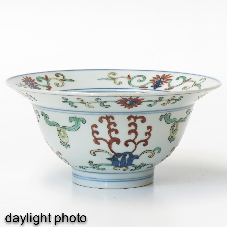 A Polychrome Decor Bowl - Image 7 of 9