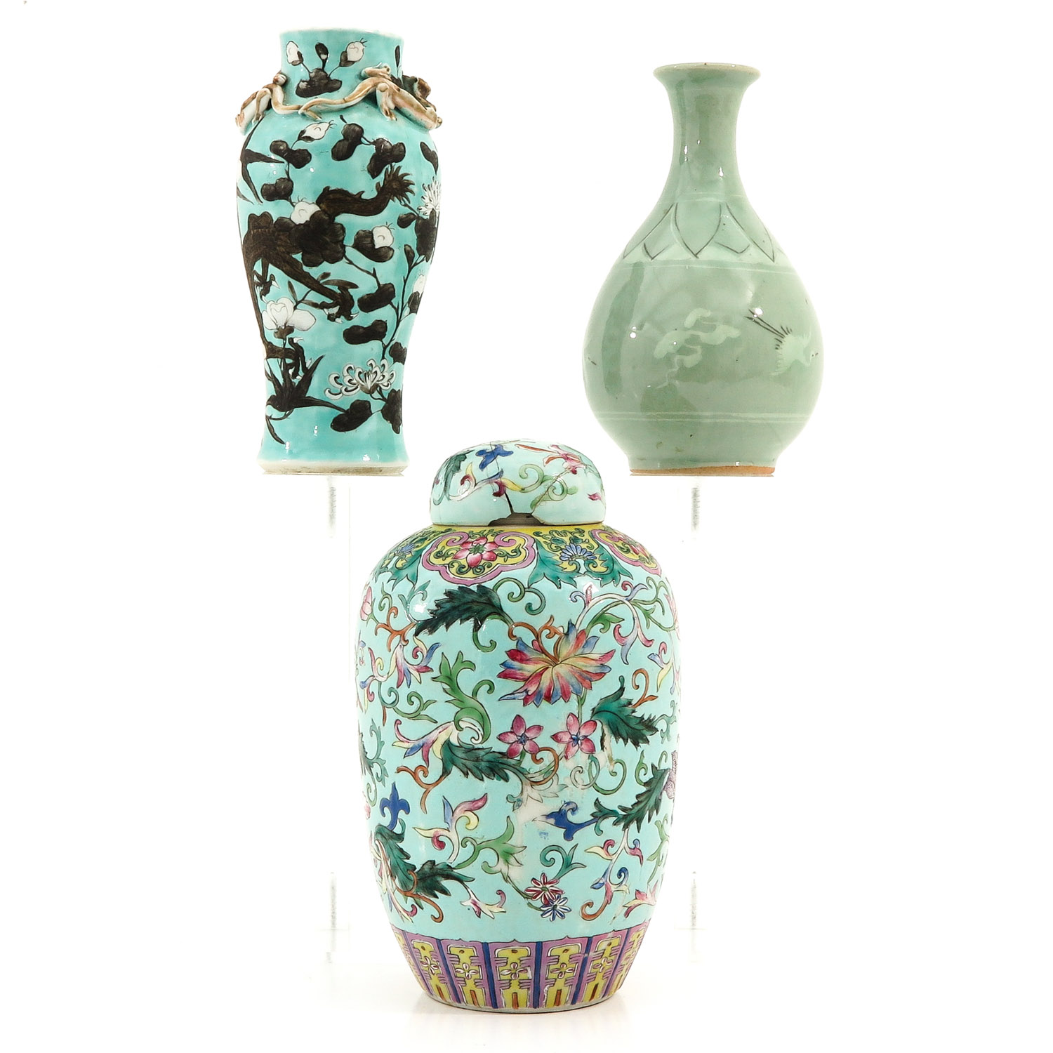 A Collection of 3 Vases - Image 2 of 9