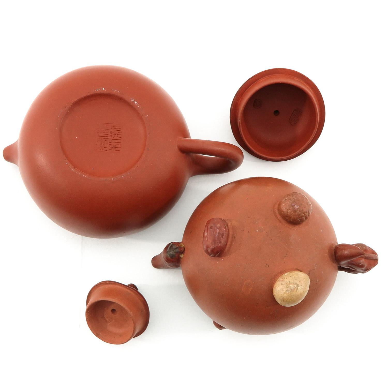 2 Yixing Teapots - Image 6 of 9