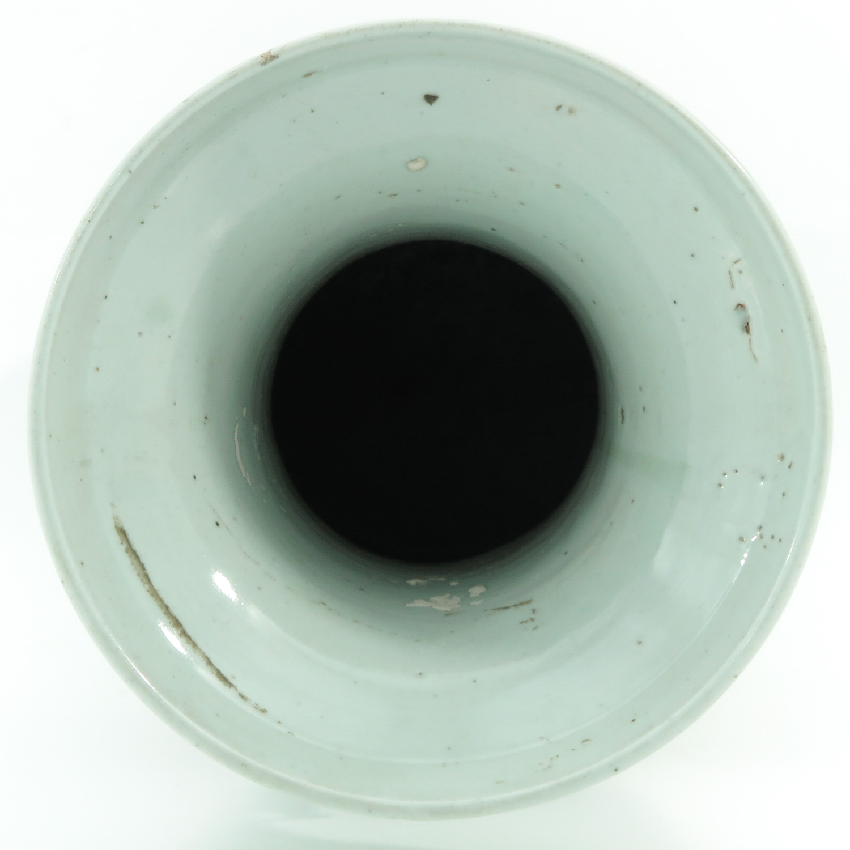A Celadon and Blue Vase - Image 5 of 10