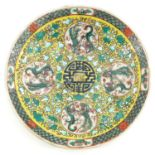 A Polychrome Decor Plate