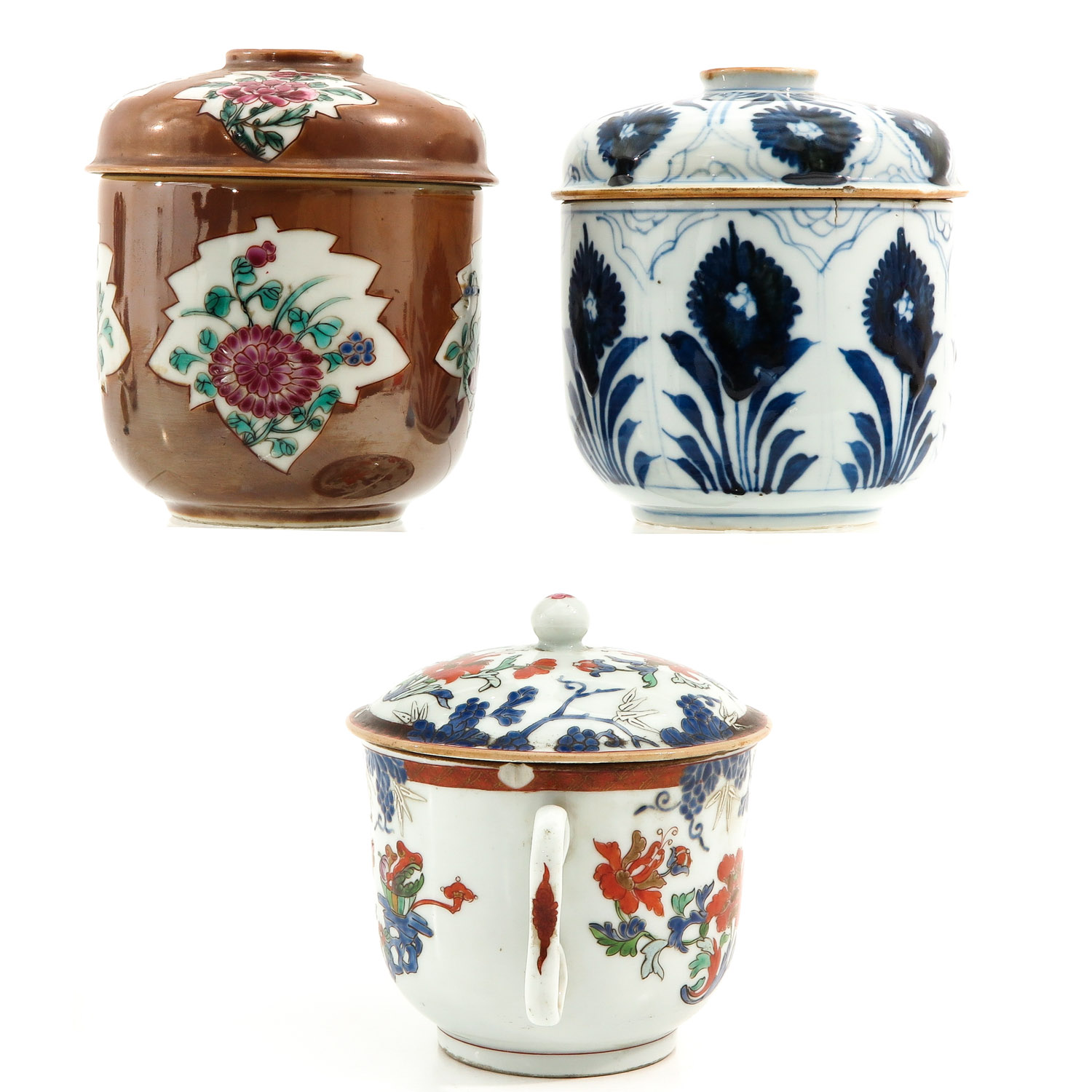A Collection of 3 Covered Jars - Image 4 of 9