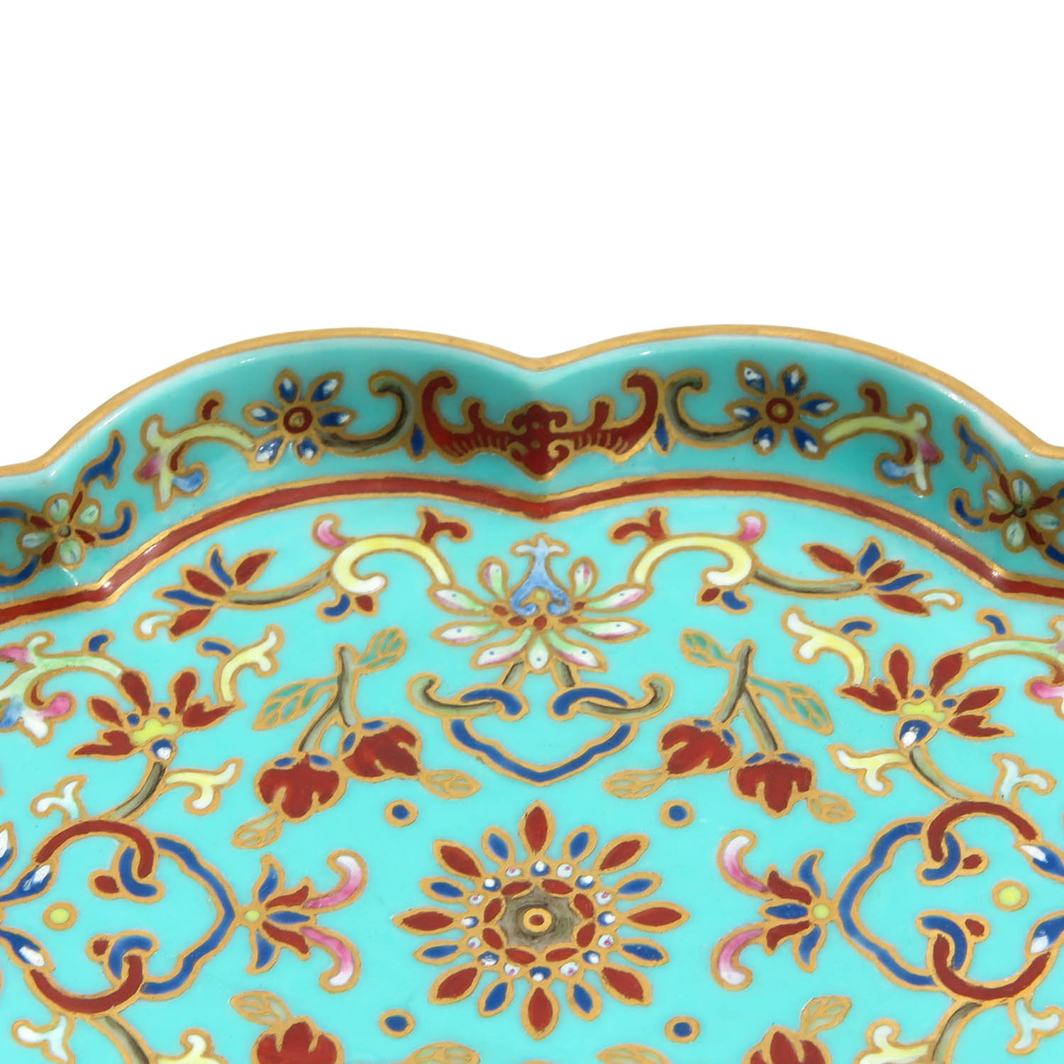 A Small Polychrome Tray - Image 3 of 8