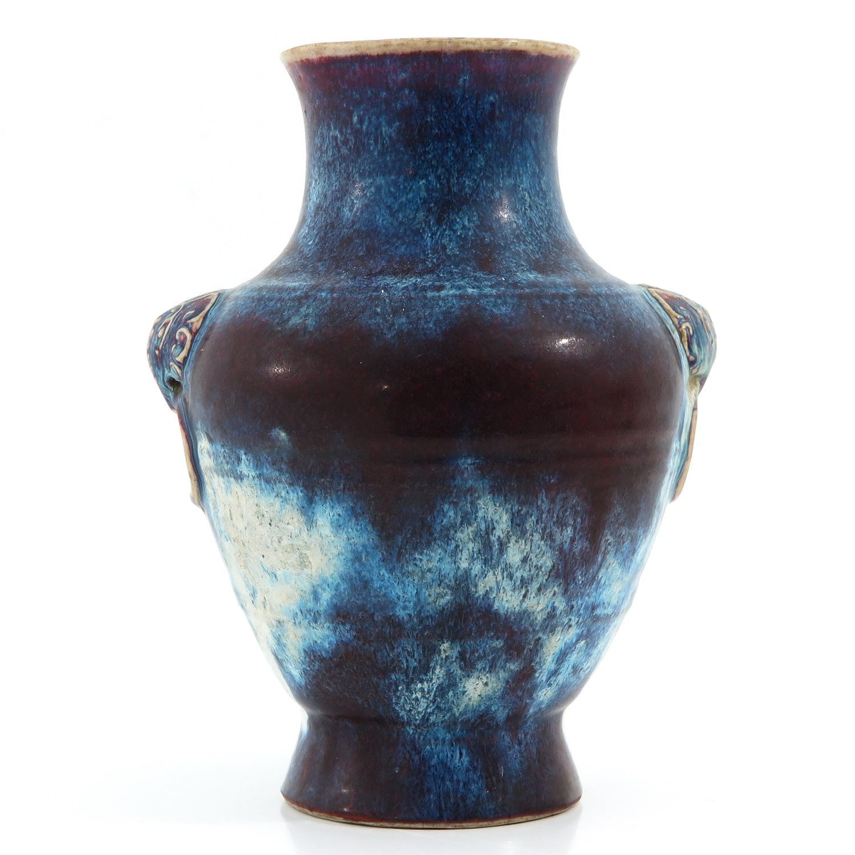 A Purple Glaze Vase - Image 3 of 10