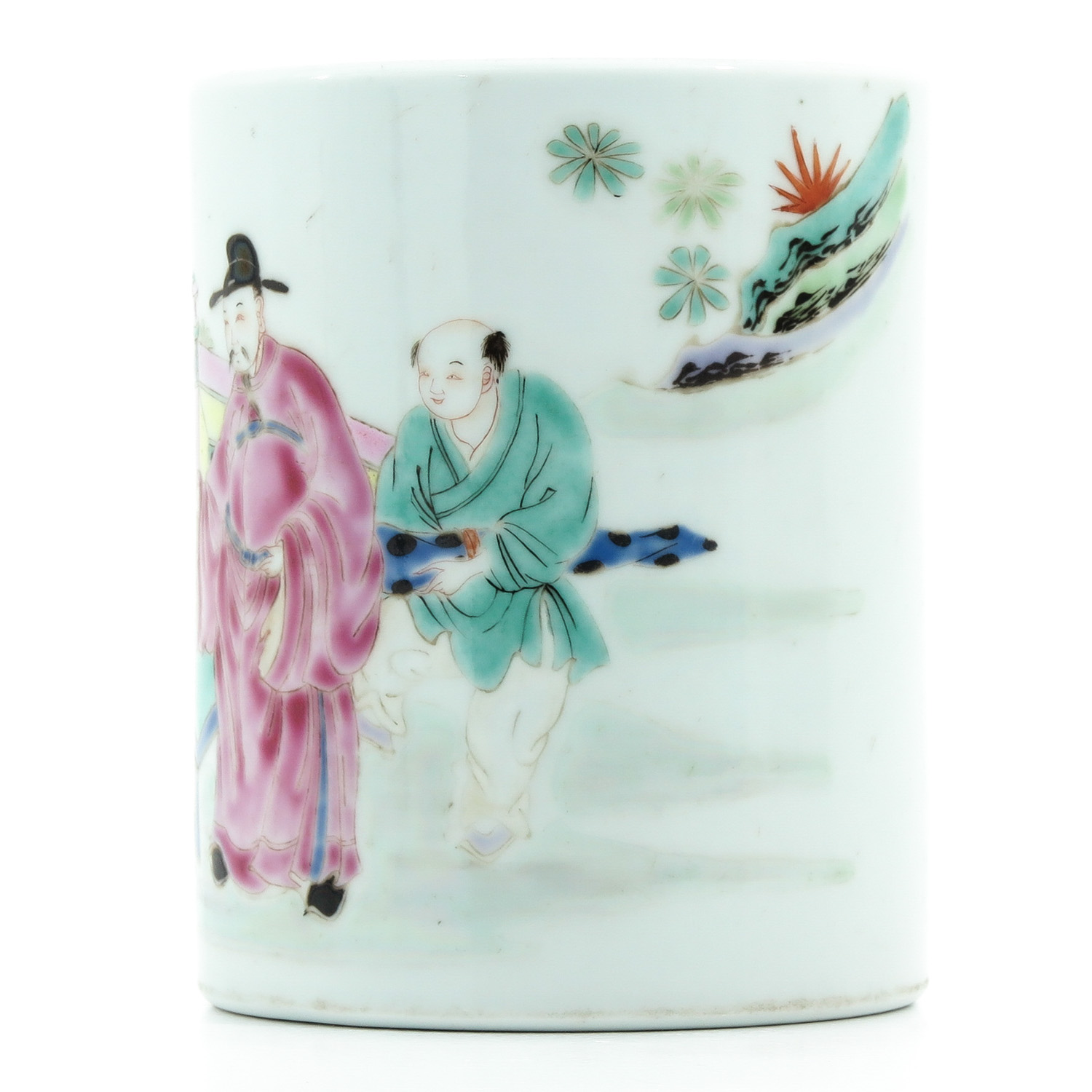 A Famille Rose Brush Pot - Image 2 of 9