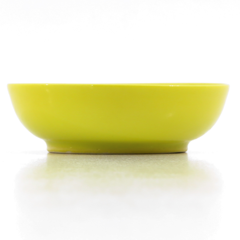 A Small Yellow Glaze Bowl - Image 4 of 9