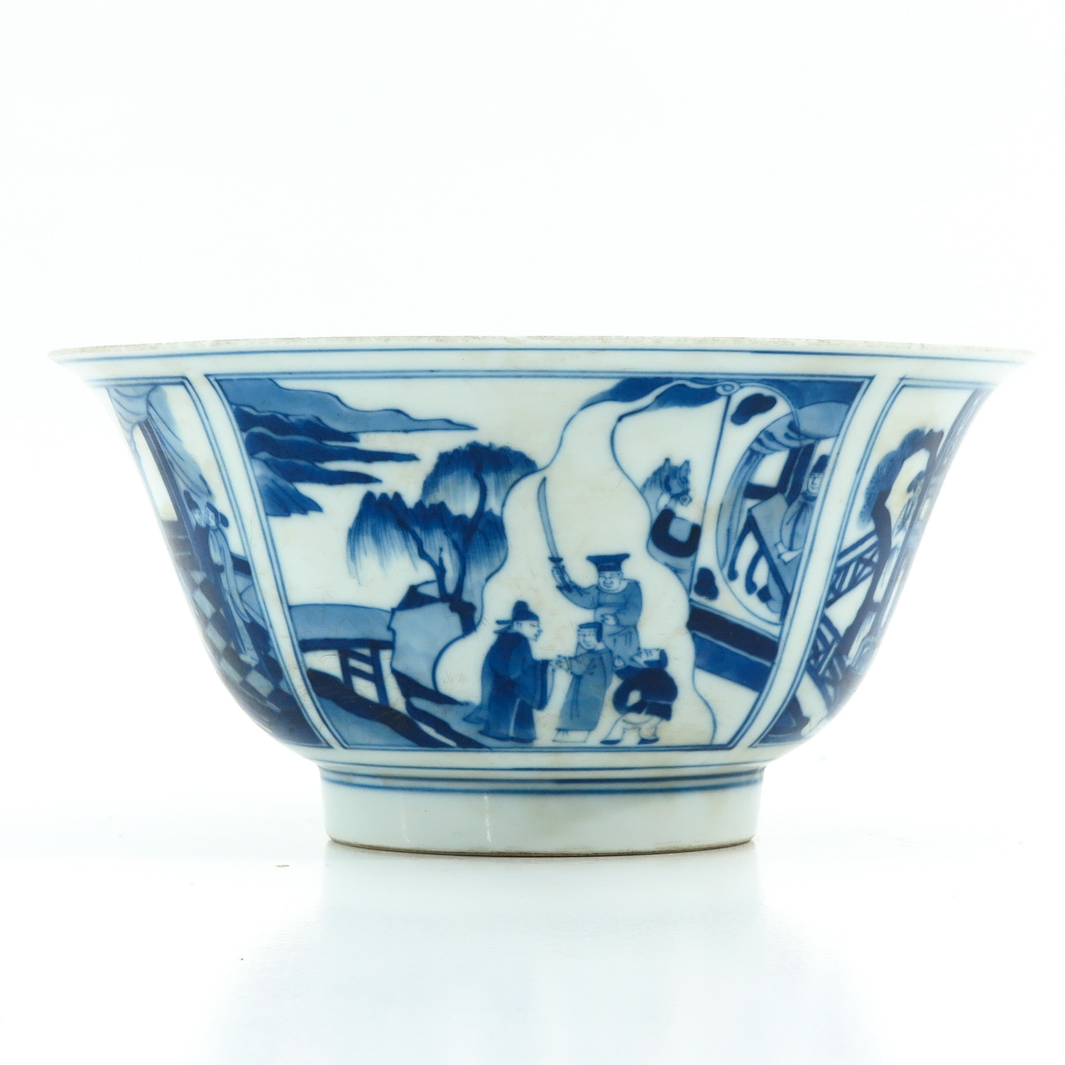 A Blue and White Flared Rim Dish - Image 3 of 10