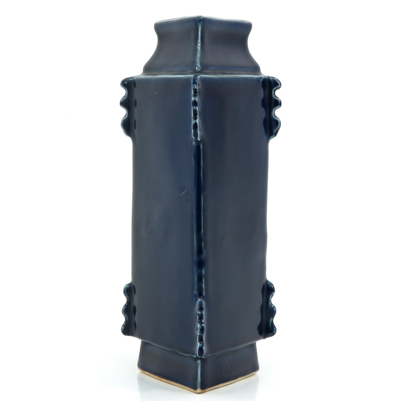 A Blue Glaze Vase - Image 2 of 10