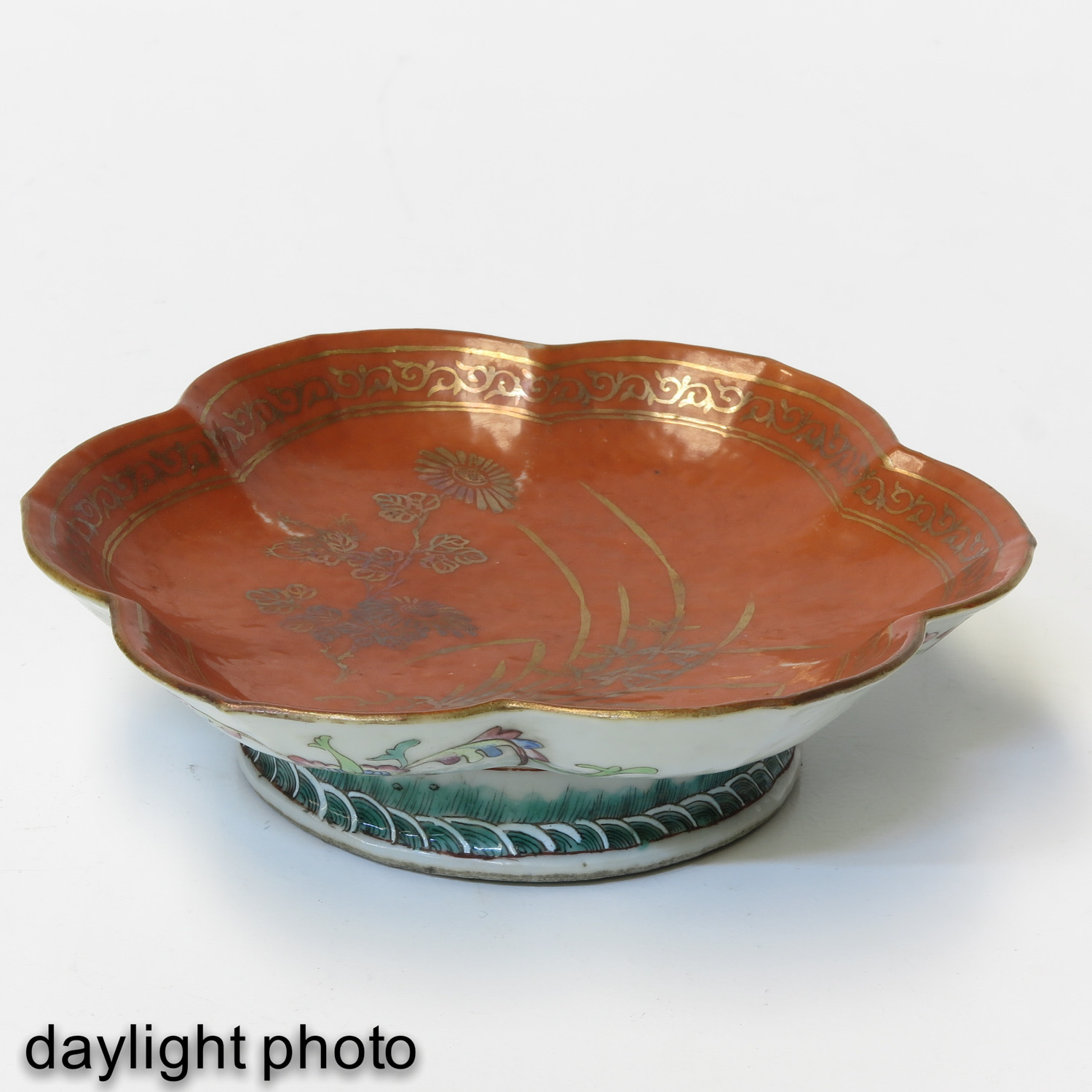 A Famille Rose Altar Dish - Image 7 of 10