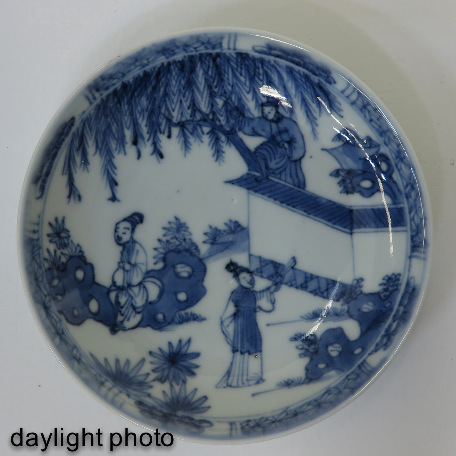 A Blue and White Cup and Saucer - Image 9 of 10