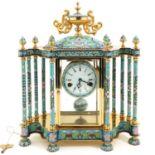 A Cloisonne Mantle Clock
