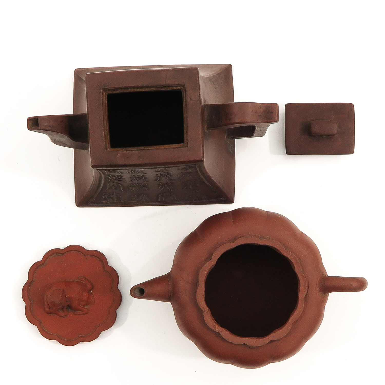 A Lot of 2 Yixing Teapots - Image 5 of 10