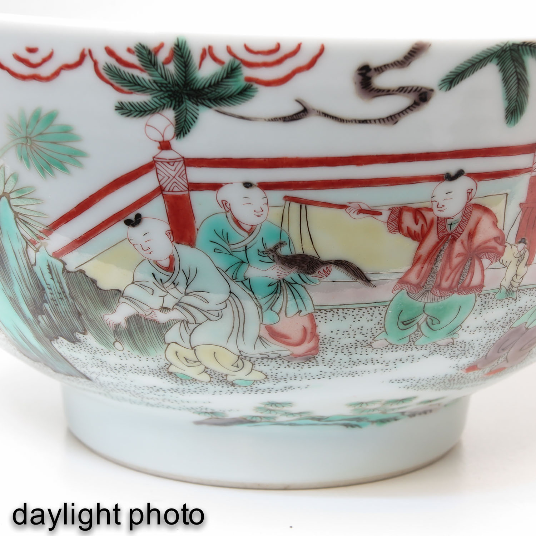 A Famille Verte Bowl - Image 9 of 9