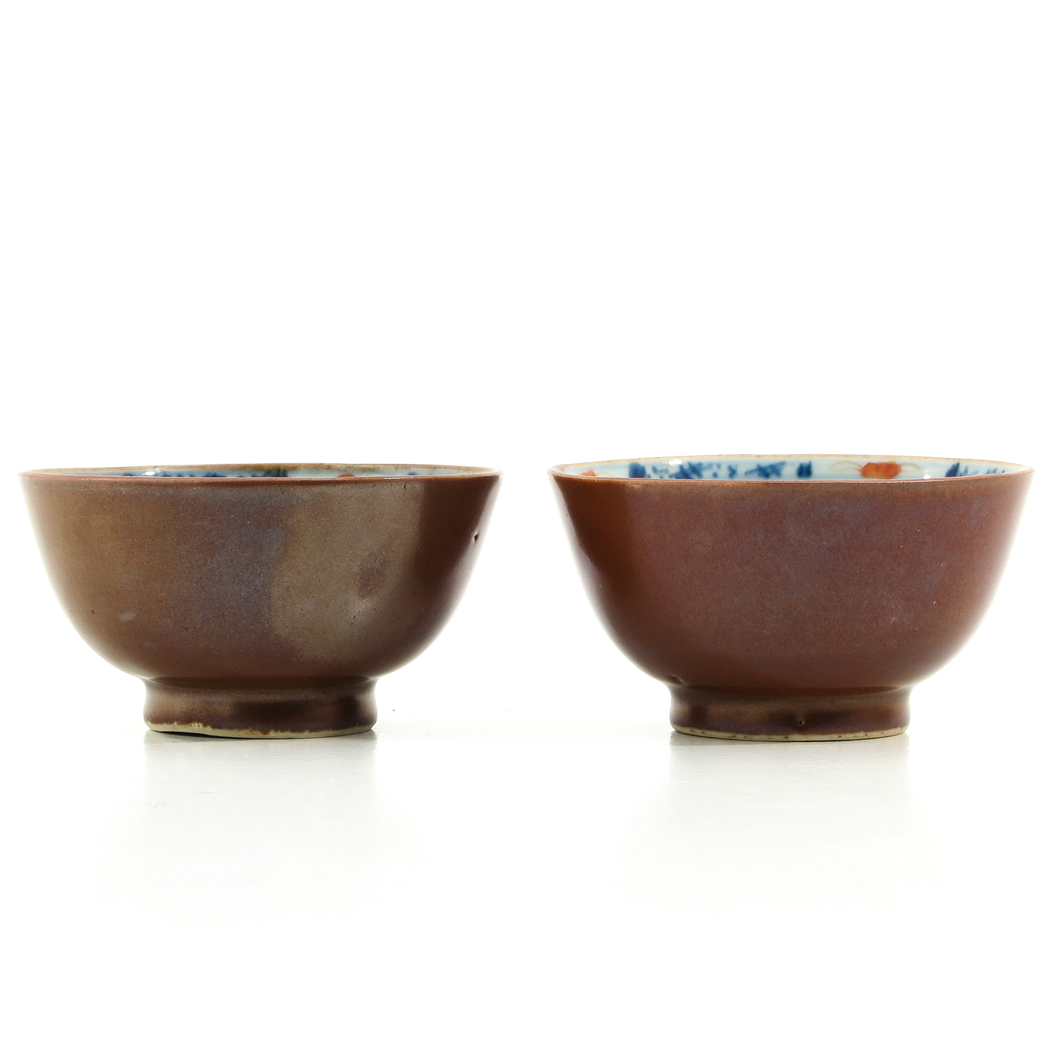A Pair of Batavianware Cups and Saucers - Image 2 of 9