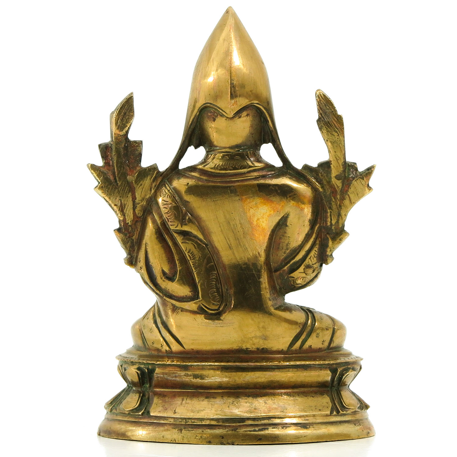 A Bronze Tibetan Lama Sculpture - Image 3 of 9