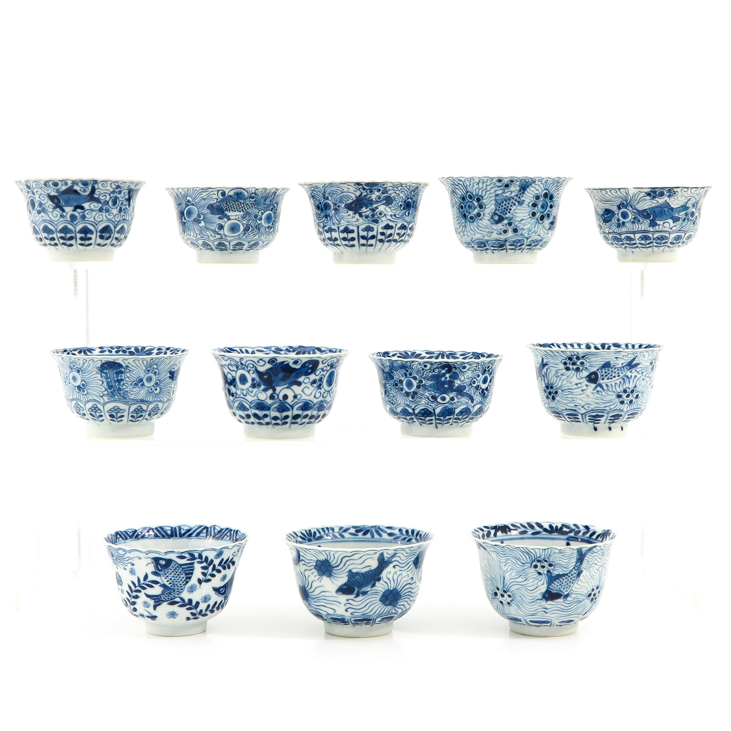 A Series of 12 Cups and Saucers - Image 4 of 10