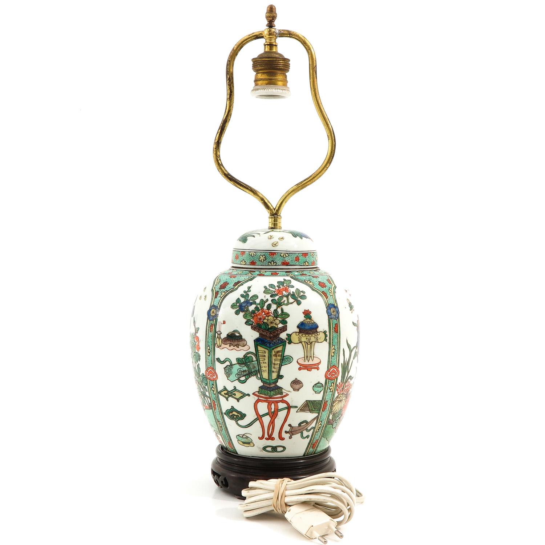 A Famille Verte Lamp - Image 3 of 9