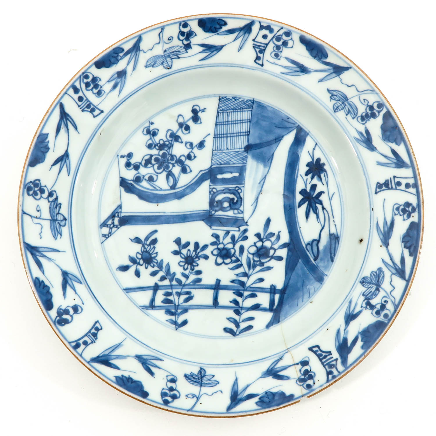 A Lot of 5 Blue and White Plates - Image 5 of 10