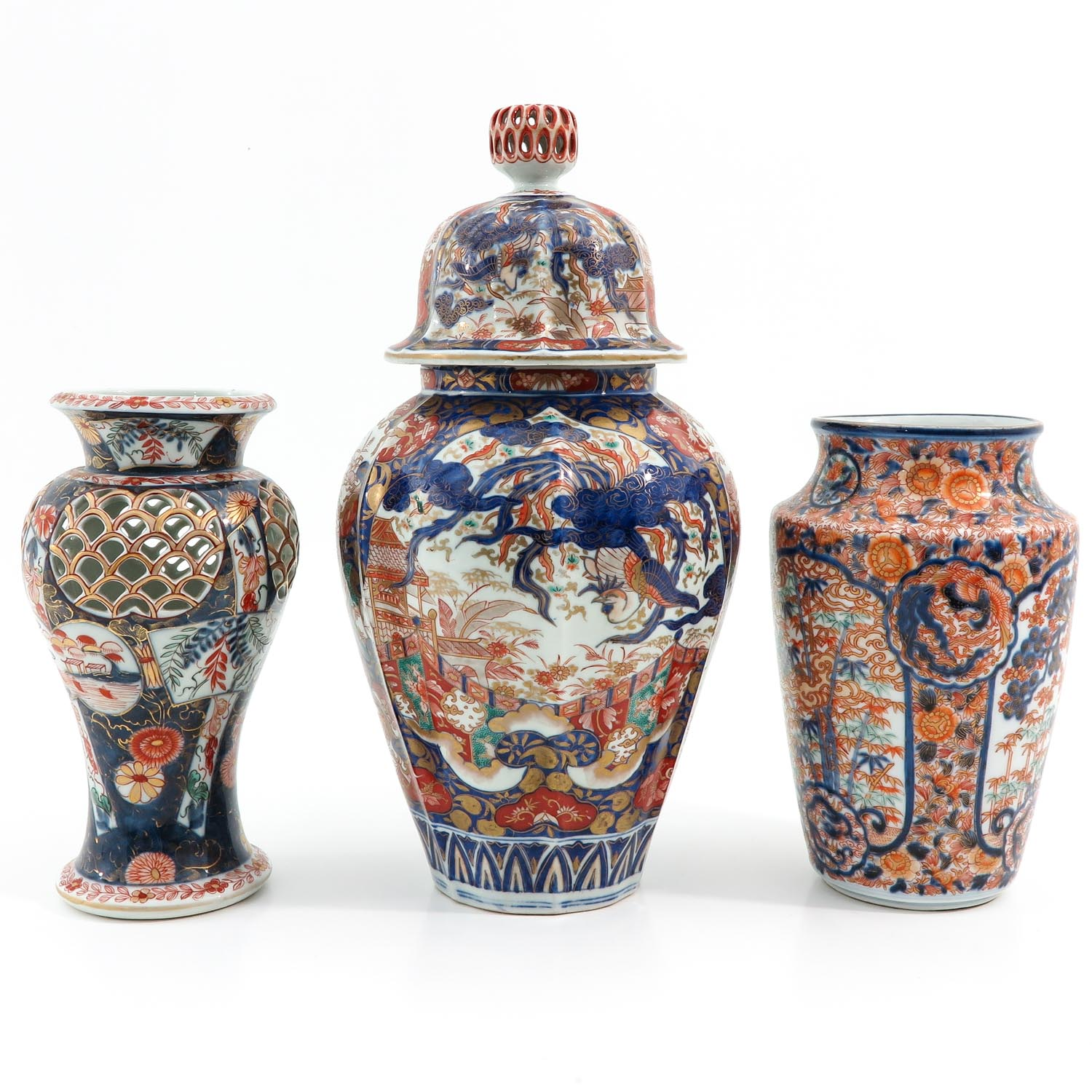 A Collection of 3 Imari Vases - Image 3 of 9