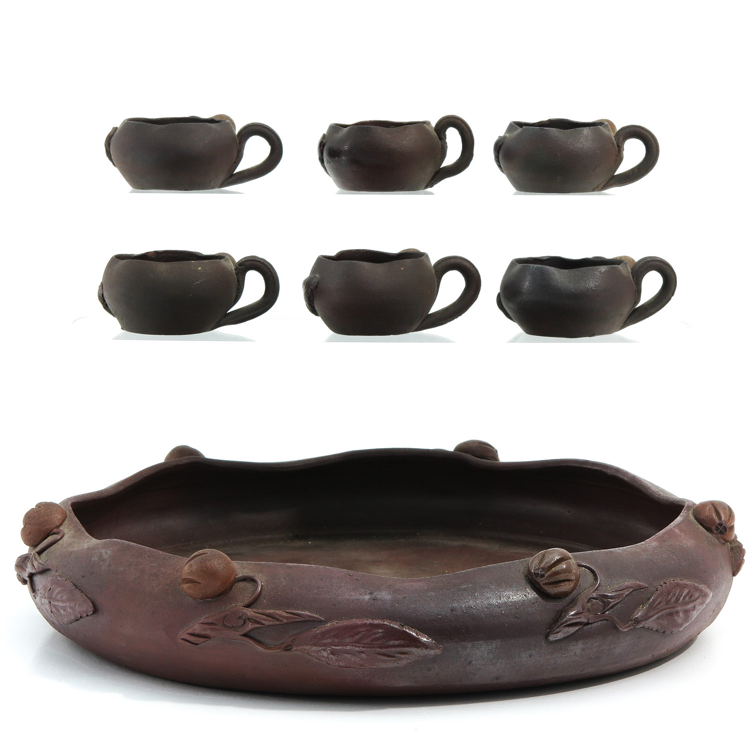 A Yixing Tray and 6 Cups - Image 3 of 10