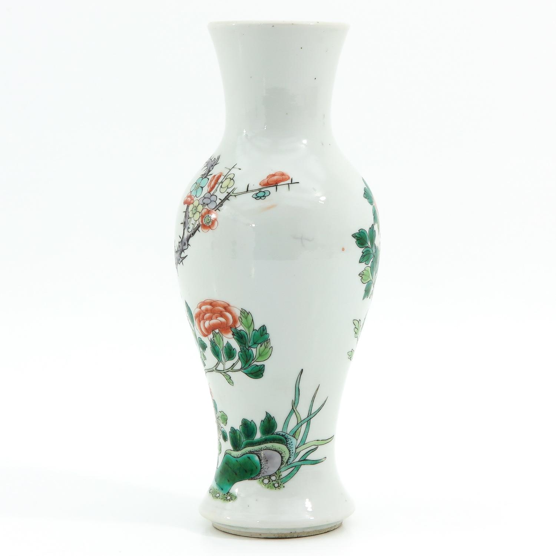A Famille Verte Vase - Image 2 of 10