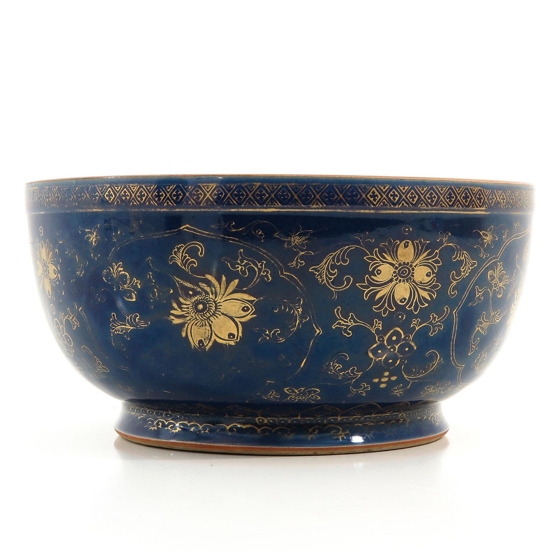 A Dark Blue and Gilt Bowl - Image 3 of 9