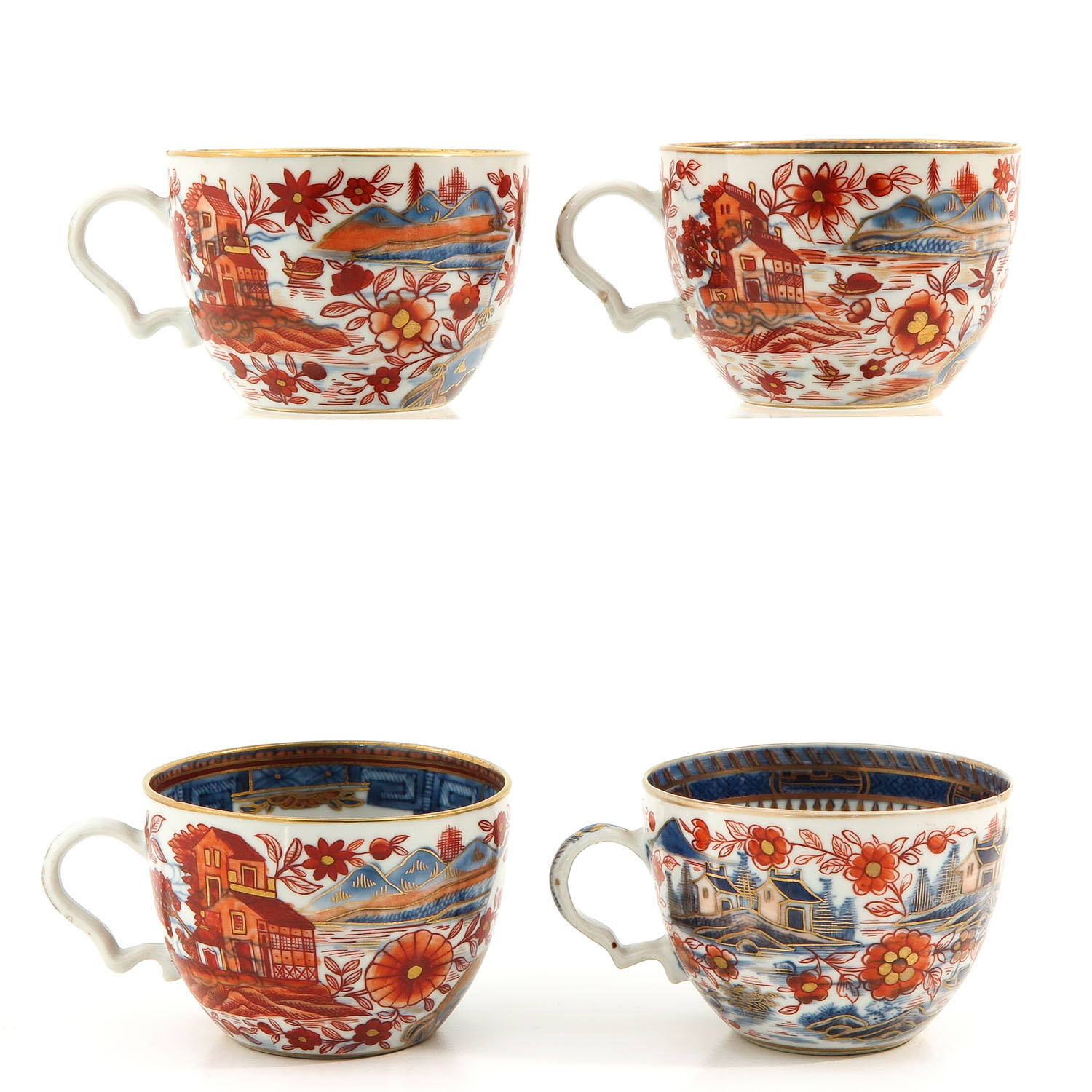 4 Imari Cups and Saucers - Image 3 of 10