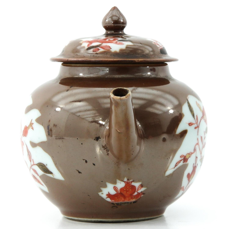 A Batavianware Teapot - Image 4 of 9