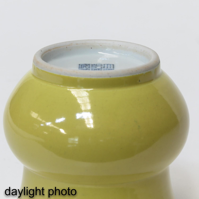 A Yellow Glazed Vase - Image 8 of 9