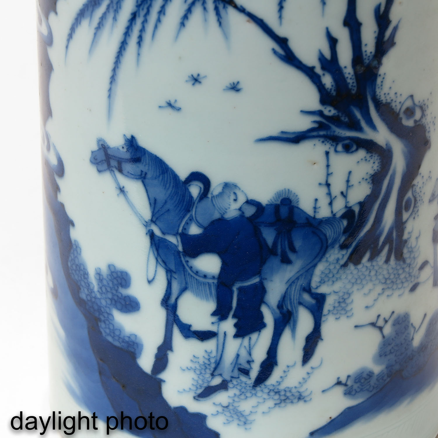 A Blue and White Brush Pot - Image 9 of 9