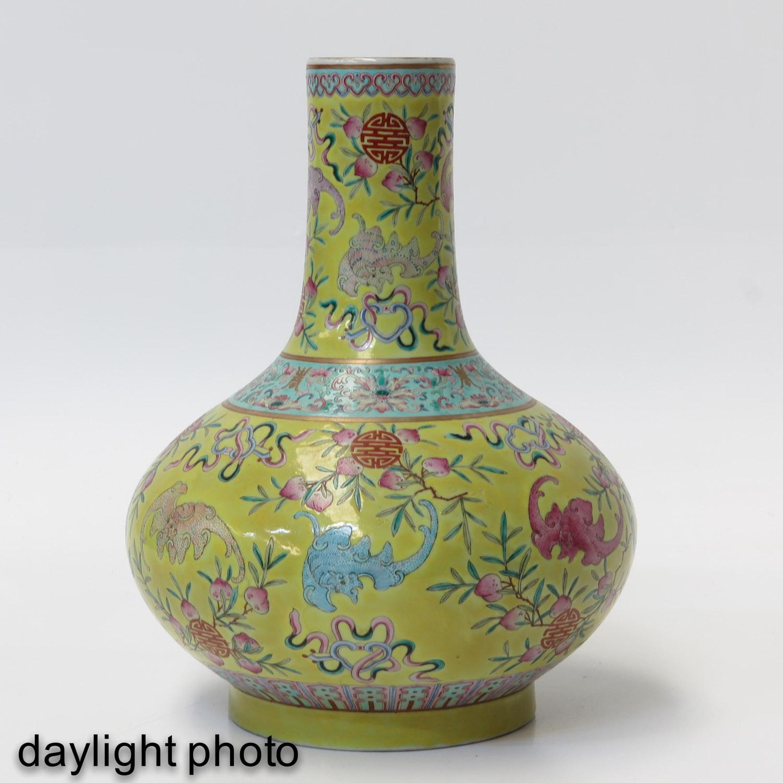 A Famille Rose Bottle Vase - Image 7 of 10