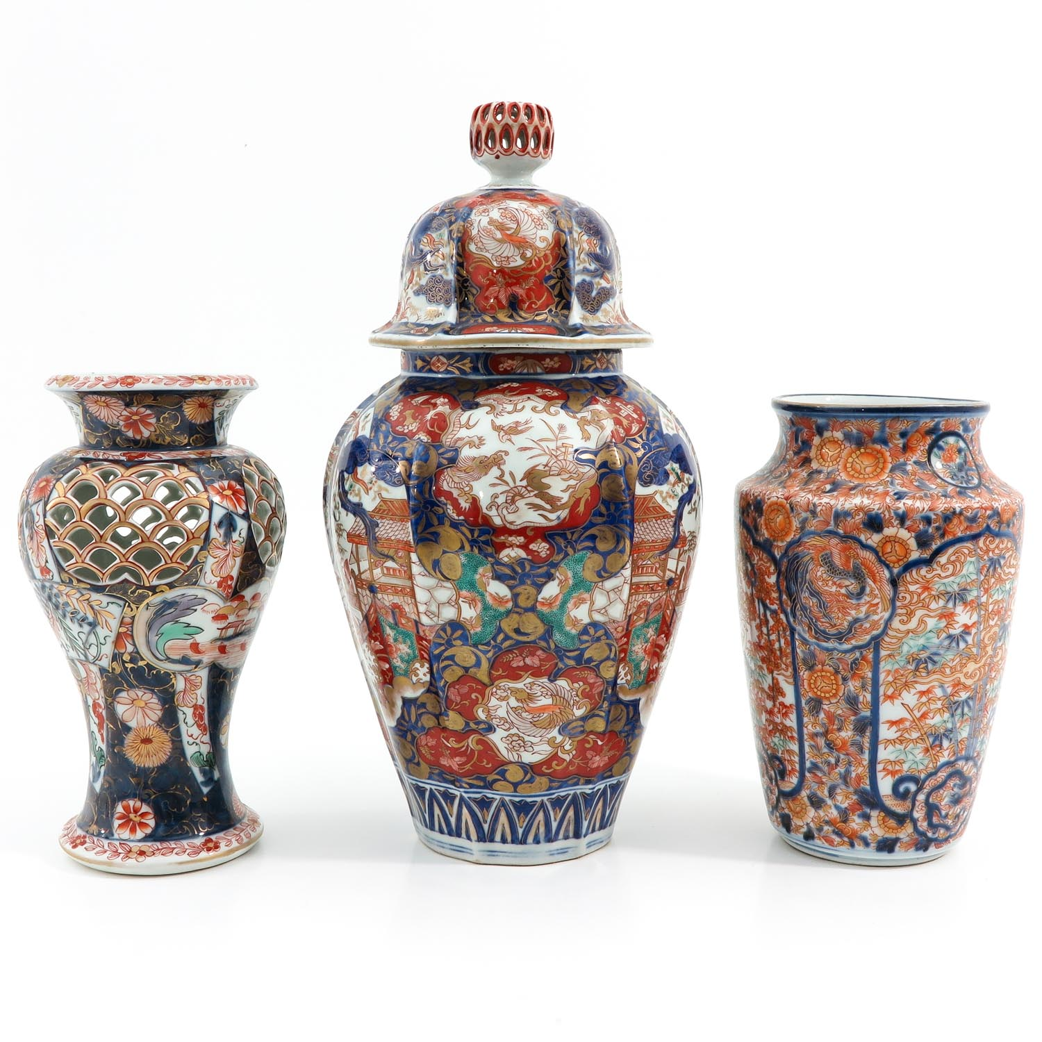 A Collection of 3 Imari Vases - Image 2 of 9