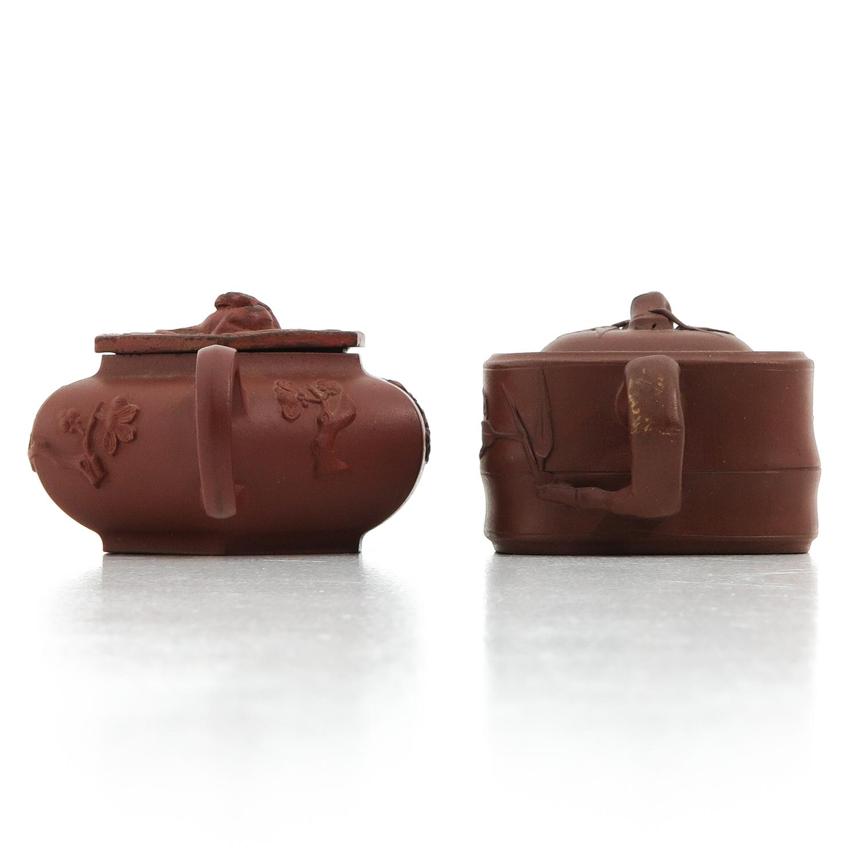 2 Yixing Teapots - Image 2 of 10