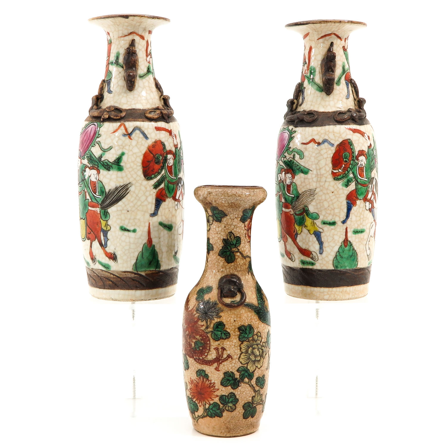 A Collection of 3 Nanking Vases - Image 2 of 9