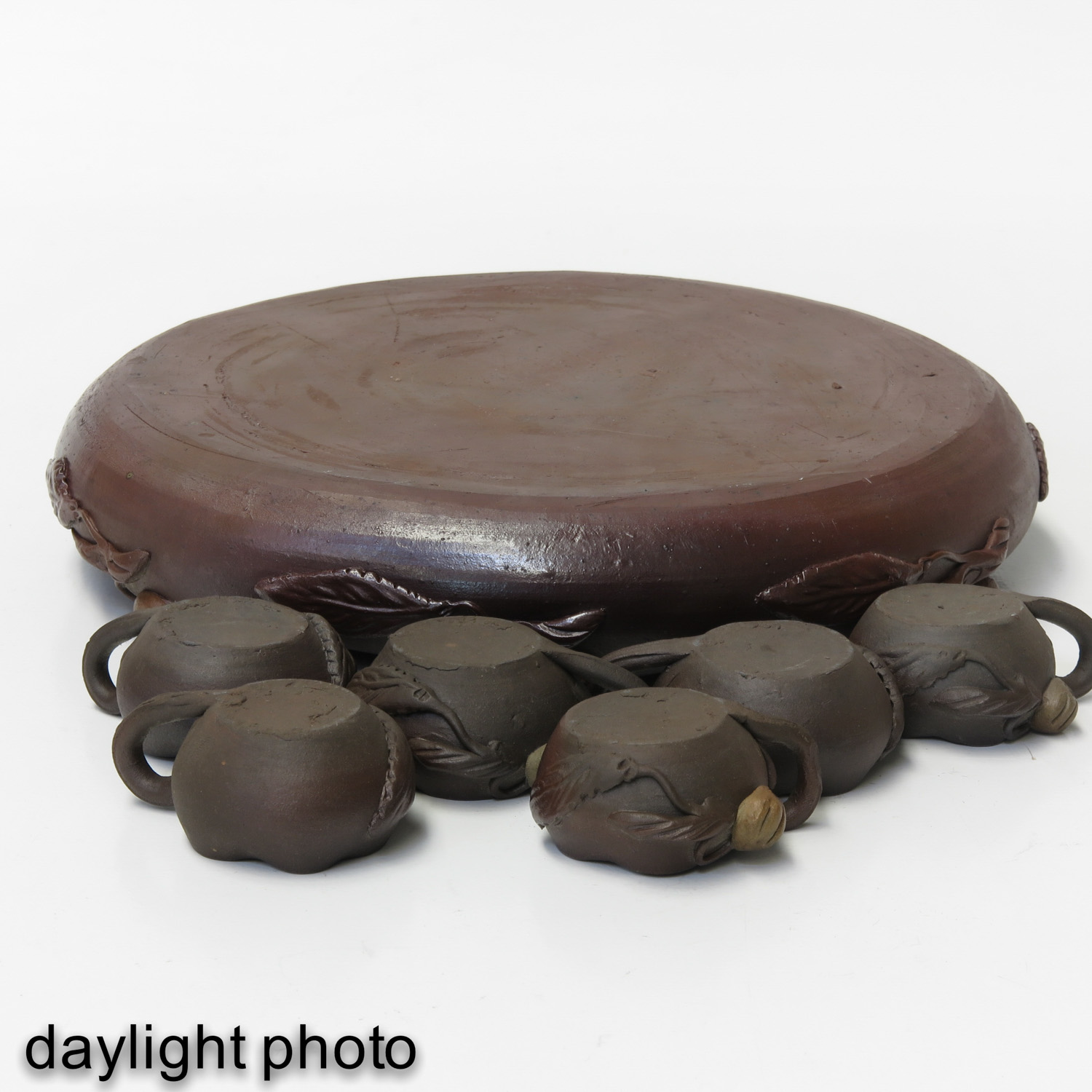 A Yixing Tray and 6 Cups - Image 8 of 10