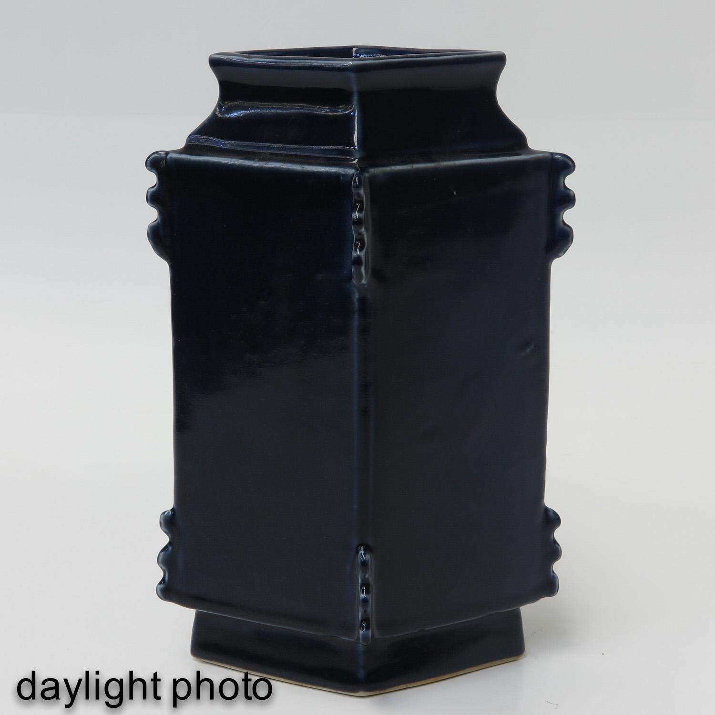 A Blue Glaze Vase - Image 7 of 10