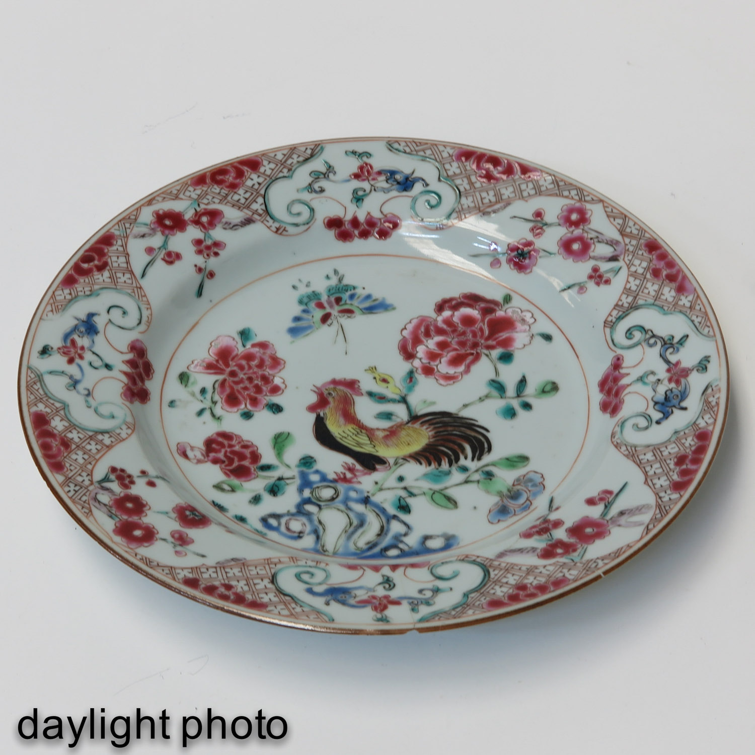 A Pair of Famille Rose Plates - Image 7 of 9