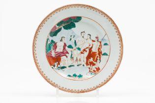 "A plate ""Judgement of Paris"""