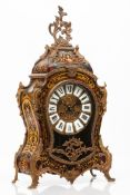 A Louis XV Boulle taste style table clock