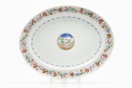 An oval tray