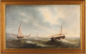 Portuguese school, 19th centuryA Marine painting Oil on canvas38x63 cm