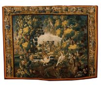 An Aubusson tapestry fragment