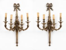 A set of four Louis XV style wall sconces