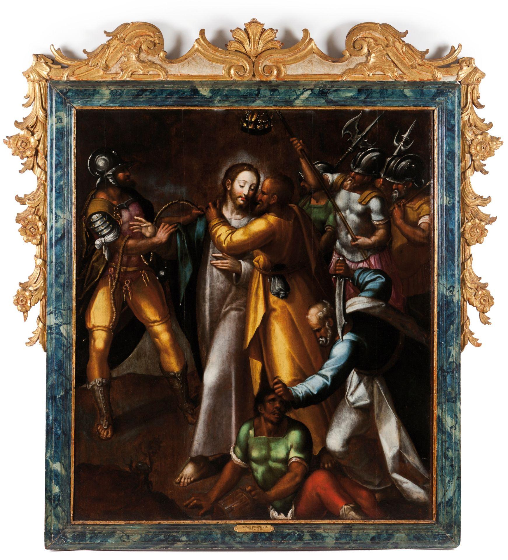 Simão Rodrigues (c. 1560-1629)The kiss of Judas - Image 2 of 2